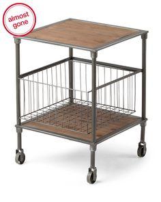 Wooden + Storage + Table via @TJmaxx #minkandpearl finds! Wet Bar for office | Small apt. wet bar!