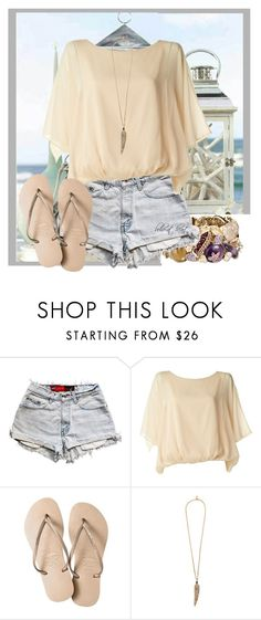 """""""Untitled #678"""" by boho-at-heart ❤ liked on Polyvore featuring Levi's, Havaianas and Roberto Cavalli"""
