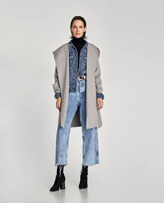 Image 1 of COAT WITH HOOD from Zara