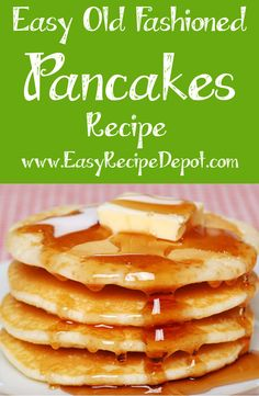 Learn how to make the BEST pancakes! This easy recipe uses just a few ingredients and steps to make fluffy, old-fashioned pancakes in just minutes. You will never use boxed pancake mix again!