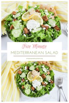 This fresh, Mediterranean salad comes together in minutes and is just as flavorful as it is customizable. Quick Salad Recipes, Salad Recipes For Dinner, Dinner Salads, Side Recipes, Healthy Recipes, Savory Salads, Healthy Salads, Healthy Eating, Healthy Life