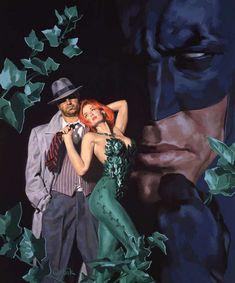Art Contrarian: Guilty Pleasures: Noir Art of Glen Orbik- Batman: Shadow of the Bat - Commissioner Gordon and Poison Ivy