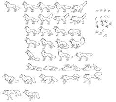 Wolf Sprites-Emotionsby ~KitsuneRedWolf