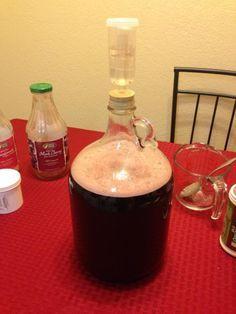 Pomegranate- Black Cherry Hard Cider - Home Brew Forums - Home Decor Ideas Brewing Recipes, Homebrew Recipes, Beer Recipes, Alcohol Recipes, Black Cherry Juice, Cherry Wine, Strawberry Wine, Homemade Alcohol, Homemade Liquor