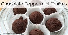 I don't have a huge sweet tooth, to be honest. But these dark chocolate peppermint truffles are AH-MAZING! I make them in bulk and keep in my f