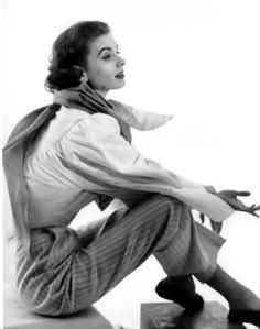 Suzy Parker in Givenchy. Photo: Horst P. Horst, 1952.