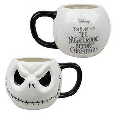 Nightmare Before Christmas Jack Skellington Head Mug