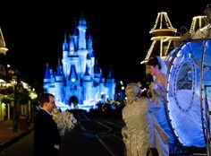 Cinderella's Castle and Cinderella's Carriage - Magic Kingdom Wedding Spotlight: Sarah + Fred | Magical Day Weddings | A Wedding Atlas Fan Site for Disney Weddings