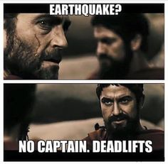Who's making earthquakes in the gym?