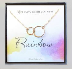 Motivational Infinity Necklace Gift - Rainbow Baby Encouragement Necklace Infinity Jewelry, Infinity Necklace, Rainbow Glass, Silver Spring, Rainbow Baby, Gold Fashion, Necklace Lengths, Happy Shopping, Encouragement