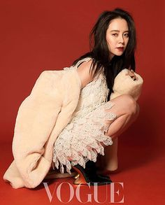 Song Ji Hyo Is The Lady In Red On Cover Of Taiwan Vogue For September 2017 | Couch Kimchi