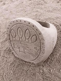 Pats Super Bowl Ring Sand Castle in Maine