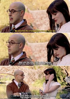 """Or when Nigel claps back at Andy when she says her personal life is """"hanging by a thread"""": 18 Underrated Savage Moments From """"The Devil Wears Prada"""" That Sting To This Day Movies Showing, Movies And Tv Shows, Clueless Quotes, Sean Leonard, Favorite Movie Quotes, Romantic Movie Quotes, Famous Movie Quotes, Romance Quotes, Mood Quotes"""
