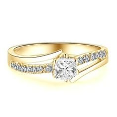 0.67 CaratPrincess Cut DiamondMultistone Ring on 14K Yellow - Gold FineTresor. $2784.58. Center Dimond Carat Weight: 0.50. Diamond Color: I-J. Diamond Clarity: I1-I2. Center Diamond Cut: Princess. Metal: 14 K Yellow - Gold