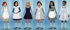 Sims4 victorian pinafore dress for children download