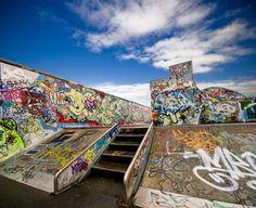 Skatepark Graffiti is a Unique Urban Art Form: Skatepark Graffiti is a Unique Urban Art Form Urban Graffiti, Graffiti Art, Graffiti Bedroom, Graffiti Photography, Vintage Polaroid, Longboarding, Parkour, Urban Art, Art Forms