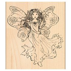 Penny Black Mounted Rubber Stamp Winged Fairy