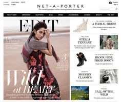 Net-a-Porter Considered the ultimate online shopping destination, Net-a-Porter never fails to deliver. With a unique watch-as-they-buy feature that allows you to see items being shopped in real time and a wedding section that offers anything and everything bridal, the website has also branched out to include beauty, recently adding model Miranda Kerr's beauty line Kora Organics to its well-rounded beauty section.    - MarieClaire.com