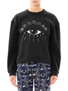 Lotuseye Embroidered Sweatshirt - Lyst