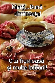 Good Morning, Tea Cups, Tableware, Tuesday, Thankful, Quotes, Buen Dia, Quotations, Dinnerware