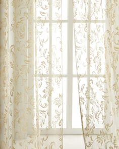 "Each 96""L Magdaline Lace Sheer, Ivory"