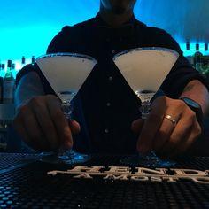 First class cocktails. Pink Wine Point bar. Lisbon, Portugal