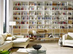 Kamerhoge witte boekenkast op maat | www.comfortinstijl.nl