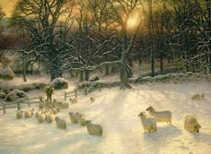 Joseph Farquharson The Shortening Winters Day is Near a Close print for sale. Shop for Joseph Farquharson The Shortening Winters Day is Near a Close painting and frame at discount price, ships in 24 hours. Cheap price prints end soon. Canvas Wall Art, Canvas Prints, Art Prints, Big Canvas, Lady Lever Art Gallery, Thing 1, Art Graphique, Beach Landscape, Landscape Design