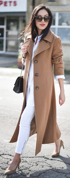 63 Best Winter Fashion Ideas Camel Coat Outfits, If you wear then often enough, your coats might be significant part of your outfit and fashion. For the matter, coat wasn't a frequent name in Winter Fashion Outfits, Autumn Winter Fashion, Love Fashion, Fashion Looks, Womens Fashion, Fashion Ideas, Dress Fashion, Fall Outfits, Fashion Inspiration