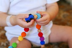 Nursing / Teething necklace Teething toy Rainbow by kangarusha