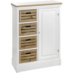 SHABBY CHIC PAINTED HAMPSHIRE CABINET UNIT STORAGE WITH 4 DRAWERS