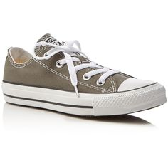 Converse Chuck Taylor All Star Low Top Sneakers (78 AUD) ❤ liked on Polyvore featuring shoes, sneakers, charcoal, laced sneakers, low top, converse footwear, star sneakers and low top canvas sneakers