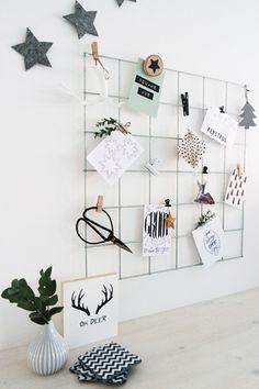 Een showrek is ook ideaal om al je leuke kerstkaarten en hangers een mooi plekje te geven!