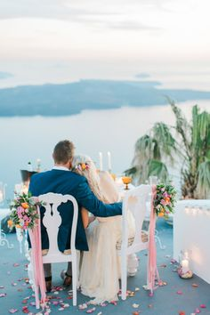 Destination perfection: http://www.stylemepretty.com/destination-weddings/2015/07/06/breathtakingly-beautiful-romantic-santorini-elopement/ | Photography: Anna Roussos - http://www.annaroussos.com/
