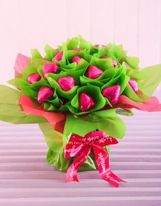 24 Pink Heart Chocolate Bouquet