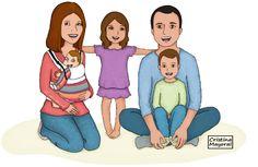 """#ilustracion realizada para el blog """"Construyendo una familia"""" (Cristina Mayoral ILUSTRACIÓN)"""