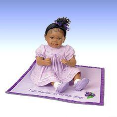 Baby Dolls and Child Dolls - carosta.com - Ayana - African-American Lifelike Baby Girl Doll