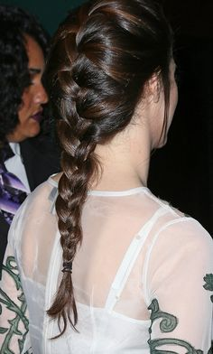 Try a french braid this Spring instead of your basic ponytail.