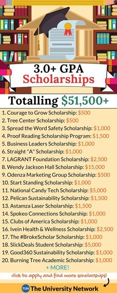 Have a GPA of Then you qualify for these scholarships! If you have a grade point average of (or higher), you qualify for the below 22 scholarships. If you don't meet the grade requirement, no worries - you can apply to these easy scholarships. College Life Hacks, Life Hacks For School, School Study Tips, College Tips, College Checklist, College Dorms, School Tips, College Ready, Law School