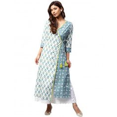 Jaipur Kurti Women Off White Ethnic Motifs Straight Cotton Kurta