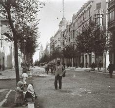 la Gran Vía a comienzos del siglo XX