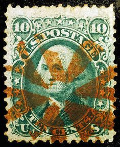 Classic US #89 10c Green VF-XF 1868 with WOW Cancel  – Classic Collector Stamp Sale Visit LittleArtTreasures.com