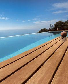 Teak decking EXTERNO by @Woodco   #decking #outdoor #pool