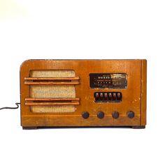 Vintage Airline Radio by marybethhale on Etsy  http://www.etsy.com/listing/89081344/vintage-wood-table-top-airline-radio?utm_source=Pinterest&utm_medium=PageTools&utm_campaign=Share