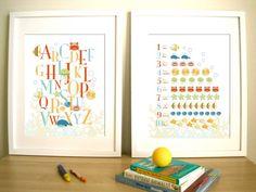 Seaworld Set of 2 Prints Art for Child's room or by UrbanTickle, $38.00