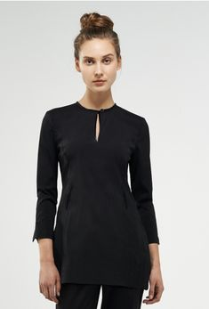 Coco - black trim - Women - Spa + Beauty Tops - SPA + BEAUTY Uniform