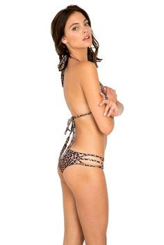 Acacia Swimwear 2015 Tunnels top & La Riviera bottoms in animal print.