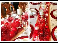 Valentine's Day Dinner Table Setting Decor - YouTube