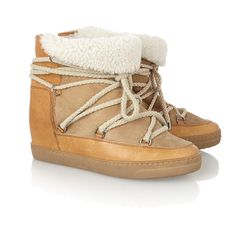 Isabel Marant Nowles Shearling-Lined Wedge Boots