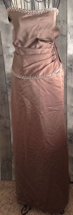 Impression Beaded Ruched Pleated Gown Dress Evening Formal Size 12 NWT #ImpressionBridal #Gown #Formal